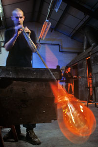 Glass Blowing in the Hot Shop